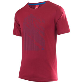 Löffler Transtex Single CF Camiseta con estampado Hombre, maroon
